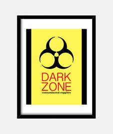 Dark Zone Cuadro con marco vertical 3:4 (30 x 40 cm)