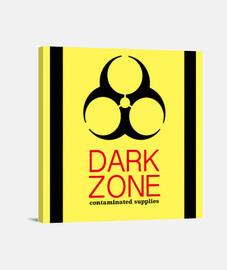 Dark Zone Lienzo Cuadrado 1:1 - (40 x 40 cm)