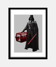 Darth Vader star wars transpontin at at Lienzo Vertical 3:4 - (30 x 40 cm)     Cuadro con marco vert