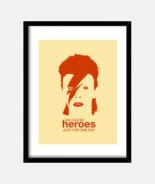 David Bowie - Heroes - Cuadro vertical