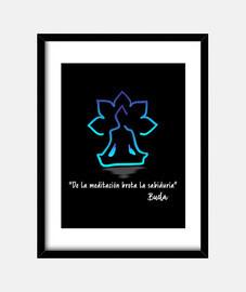 De la meditación brota la sabiduría-cuadro