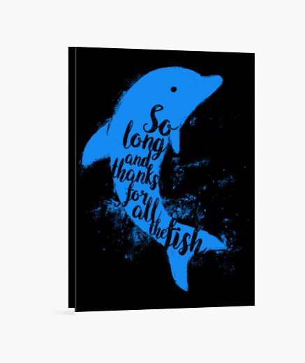 Lienzo delfín agradecidos