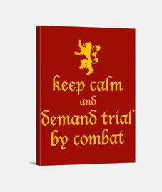 Demand trial by combat Lienzo