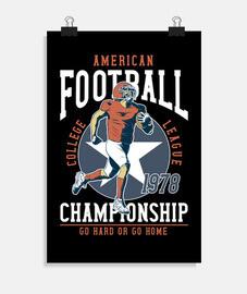 design rétro football américain des années 70 vintage 1978 sport