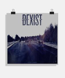 Dexist - Los No Lugares Blue (Poster)