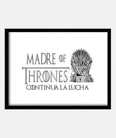 DIA DE LA MADRE, JUEGO DE TRONOS Cuadro con marco negro horizontal 4:3 (20 x 15 cm)