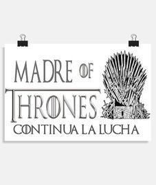 DIA DE LA MADRE, JUEGO DE TRONOS Póster horizontal 3:2 - (30 x 20 cm)