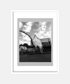 dino - frame with vertical white frame 3: 4 (15 x 20 cm)