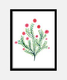 disegno a inchiostro di pianta astratta