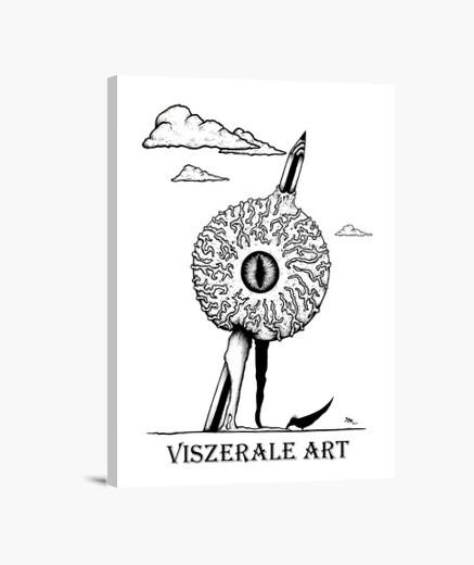 Lienzo Diseño 2: Impaled Eye Logo