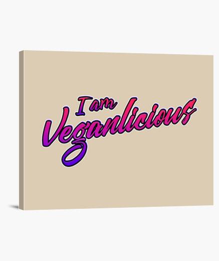 Lienzo Diseño Letras Veganas