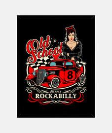 Diseño Pinup Rockabilly Vintage Hotrod USA Rock