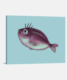divertido pez con elegantes pestañas