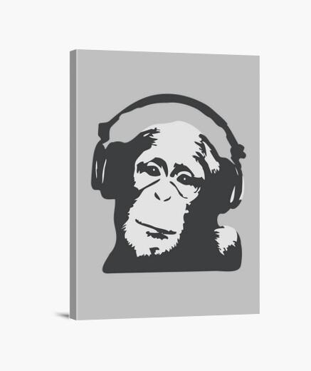 Lienzo dj monkey