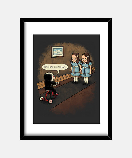 Do You Want to Play a Game? marco vertical 3:4 (30 x 40 cm)
