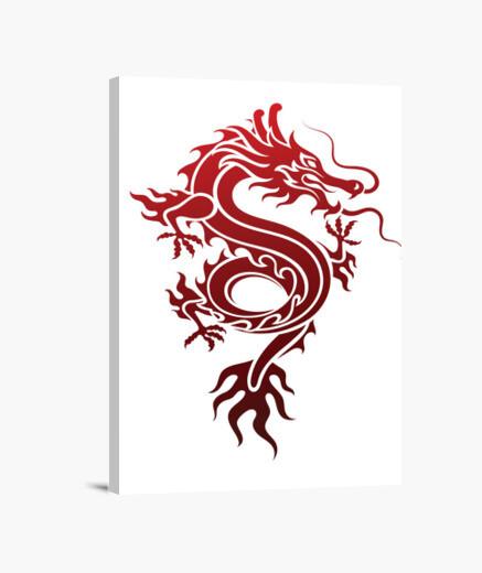 Lienzo dragón rojo