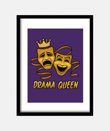 drama comedia reina y tragedia máscaras