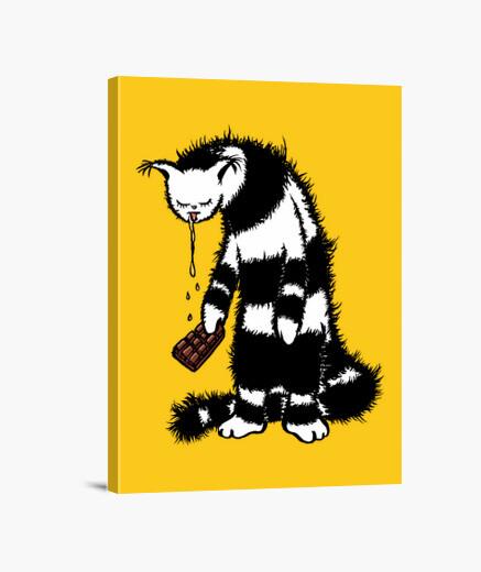 Tableau drôle de chat créature chocolat...