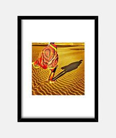 dunes - cadre avec cadre noir vertical 3: 4 (15 x 20 cm)