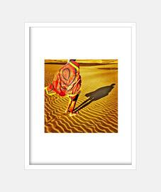 dunes - frame with vertical white frame 3: 4 (15 x 20 cm)