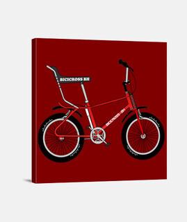 efedefunko © Bicicross BH 1978 Red - Lienzo Cuadrado 1:1 - (40 x 40 cm)