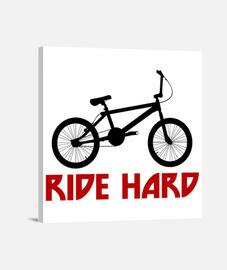 efedefunko © BMX RideHard - Lienzo Cuadrado 1:1 - (40 x 40 cm)