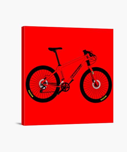 Efedefunko © Cannondale Tribute Red - Lienzo Cuadrado 1:1 - (40 x 40 cm)