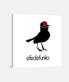 efedefunko © Original Logo - Lienzo Cuadrado 1:1 - (40 x 40 cm)