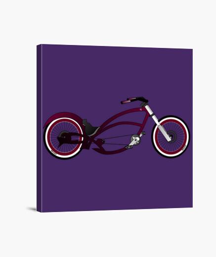 Efedefunko © Purple Queen Chopper Bike - Lienzo Cuadrado 1:1 - (40 x 40 cm)