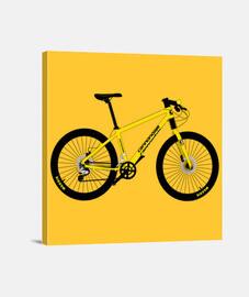 efedefunko © Yellow Cannondale - Lienzo Cuadrado 1:1 - (40 x 40 cm)
