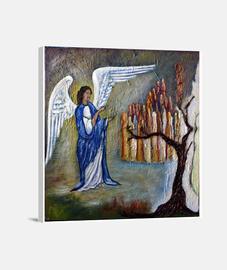 El Ángel y las almas (lienzo)