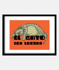 EL GATO CON LORZAS GRIS