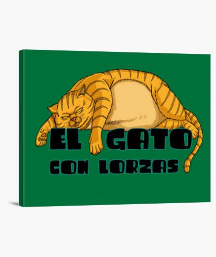 Lienzo EL GATO CON LORZAS RUBIO