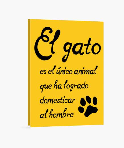 Lienzo El gato domesticador