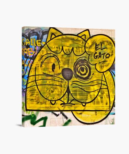El Gato Grafiti - Lienzo