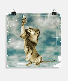 el león y la mariposa