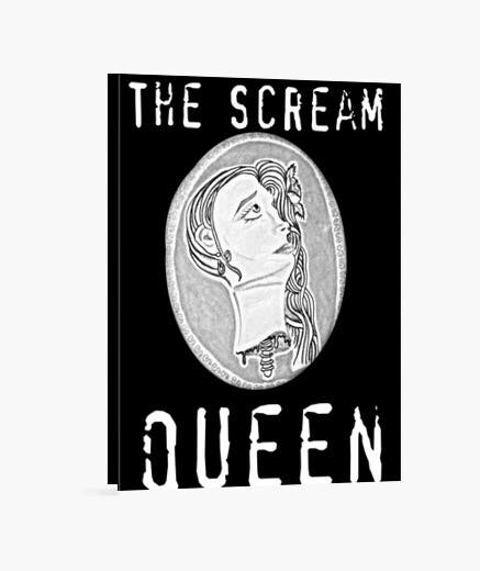 El lienzo scream queen 3: 4 - (30 x 40 cm)
