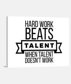 el trabajo duro bate talento