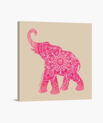 Lienzo elefante arrosa-elefante rosa