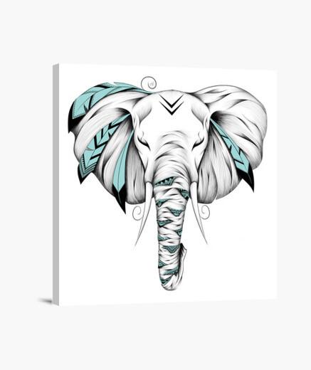 Lienzo elefante poético