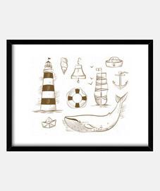 éléments marins
