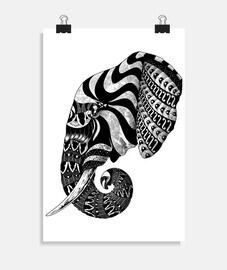 éléphant orné