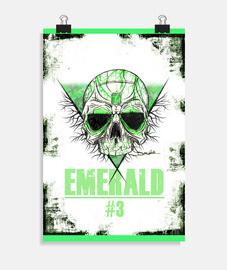 Emerald skull - Poster