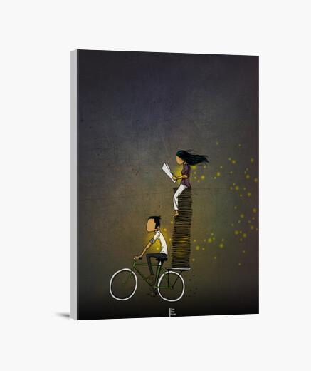 Lienzo en bicicleta