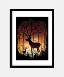 en el bosque de los ciervos