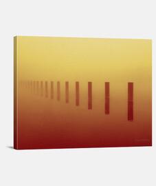 en la niebla del lote - rojo