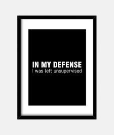 en mi defensa me dejaron sin supervisió