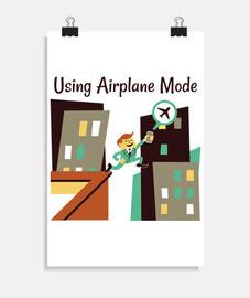 en utilisant le mode avion