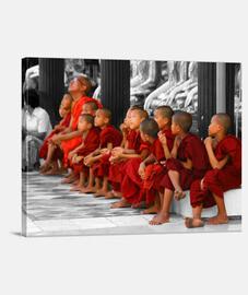 enfants moines - toile