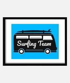 équipe de surf